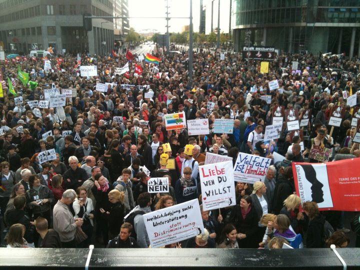 Um 16 Uhr bei der Kundgebung